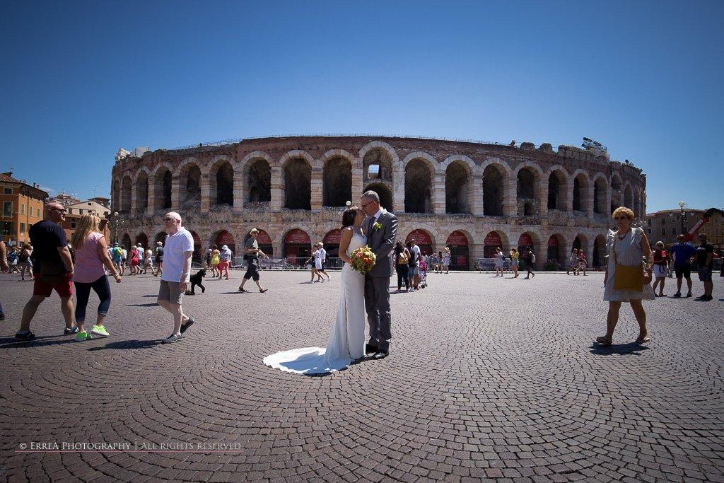 Servizio fotografico sposi Arena Verona